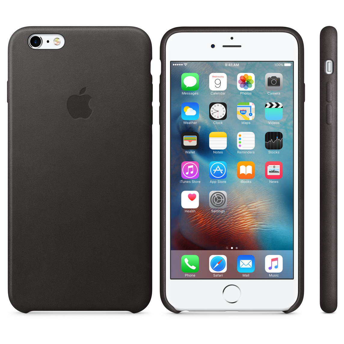 outlet store sale e2602 af2f9 iPhone 6 Plus / 6s Plus Leather Case - Black