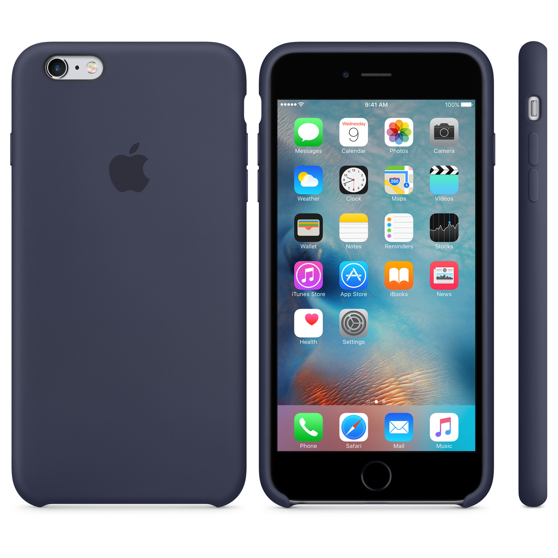 on sale 9ba8f abc39 iPhone 6 Plus / 6s Plus Silicone Case - Midnight Blue