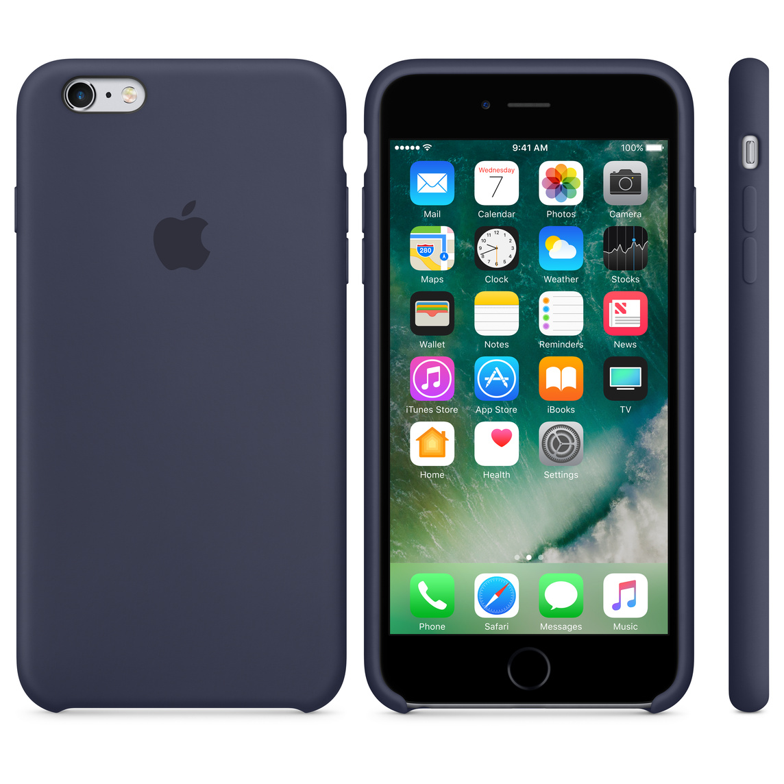 reputable site 27362 544fe iPhone 6 / 6s Silicone Case - Midnight Blue