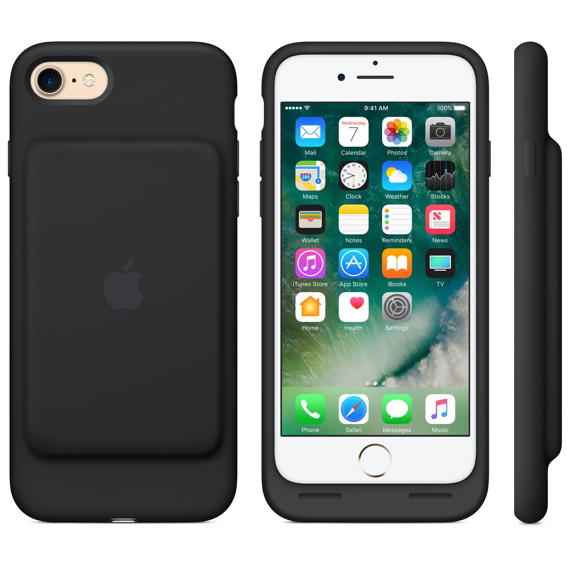 the best attitude 74014 25910 iPhone 7 Smart Battery Case - Black