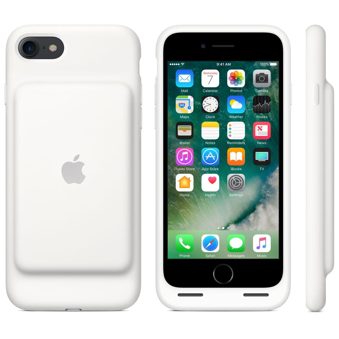 super popular b6448 e6eeb iPhone 7 Smart Battery Case - White