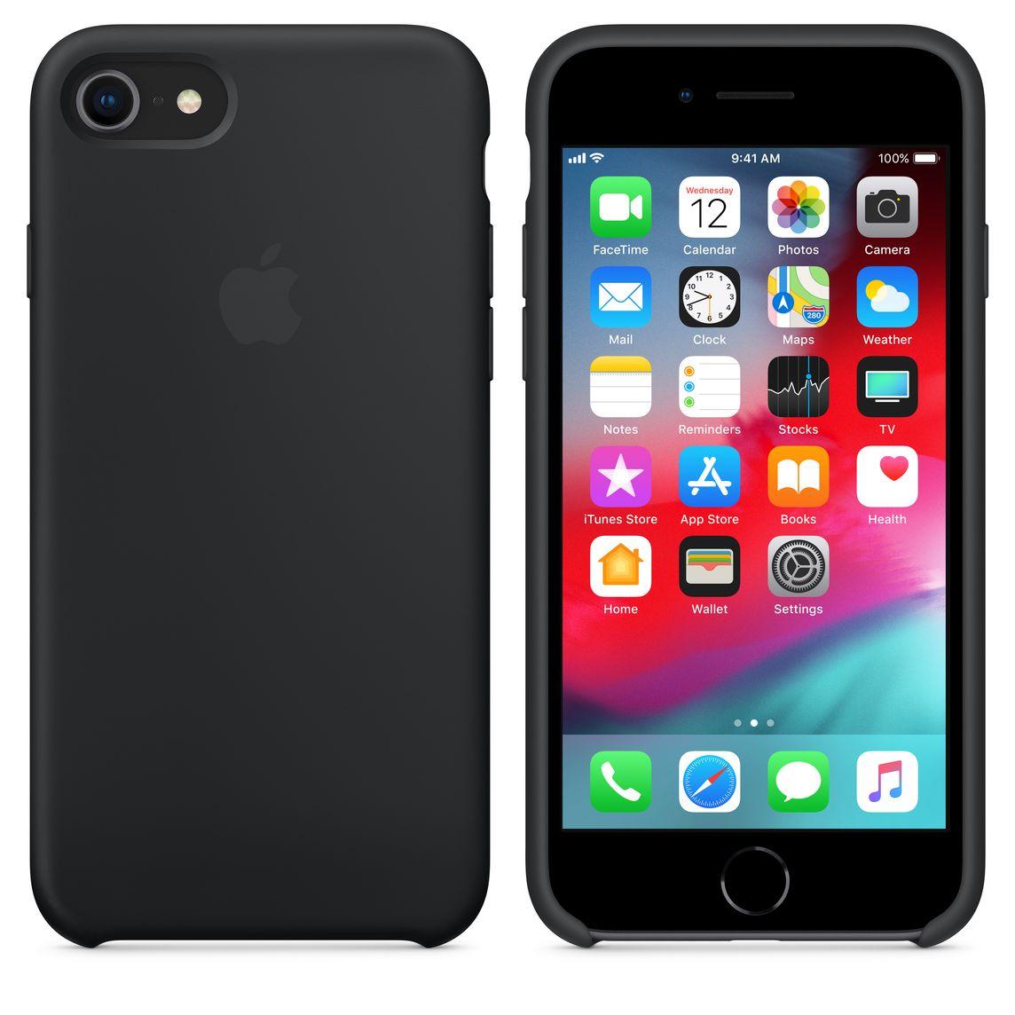 buy online 3158c 719af iPhone 8 / 7 Silicone Case - Black