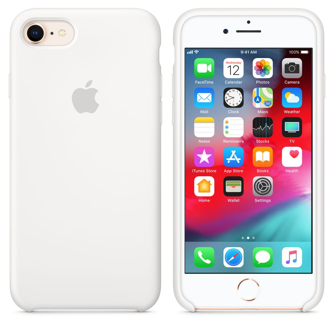 best service a6a6f d8897 iPhone 8 / 7 Silicone Case - White