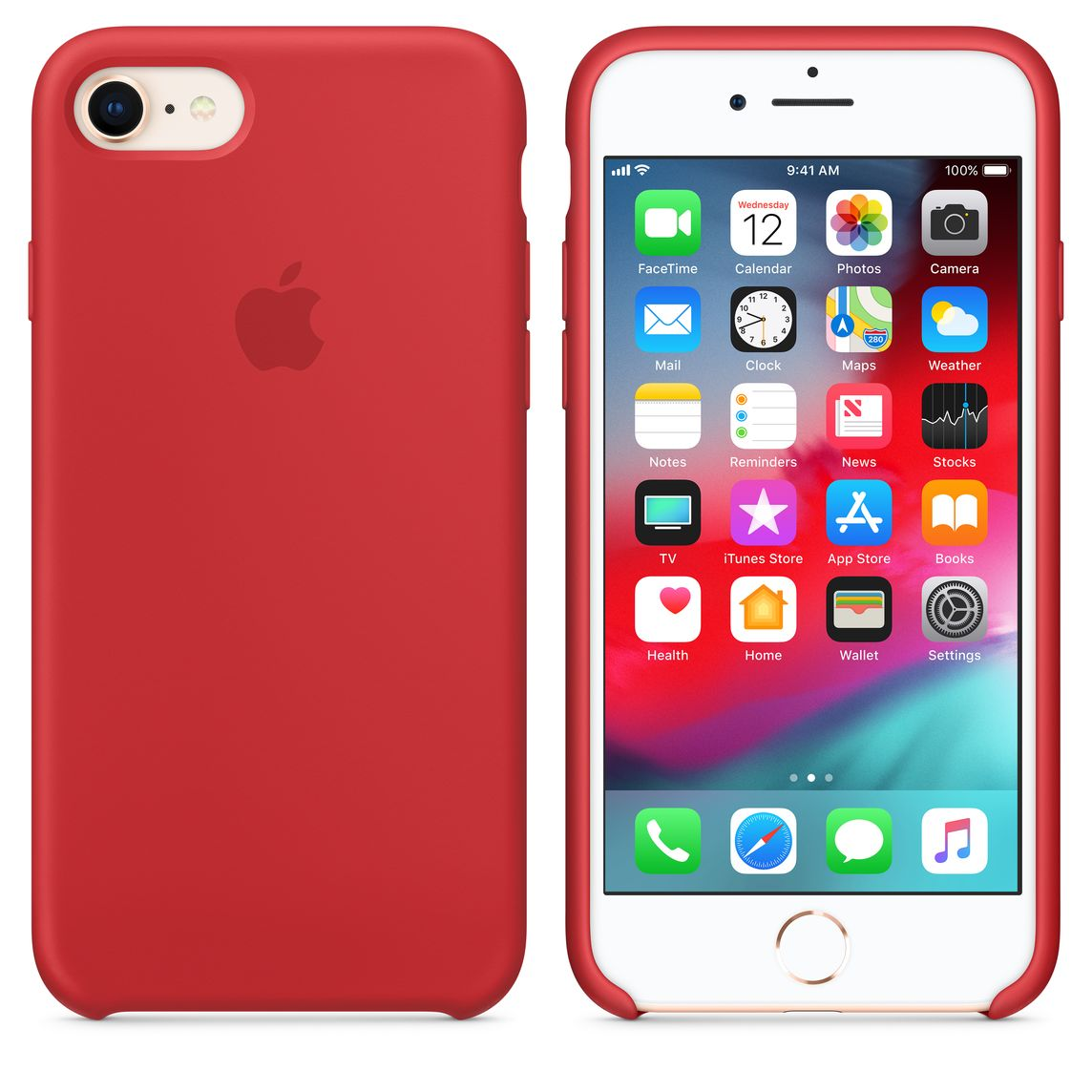 premium selection 66339 5f107 iPhone 8 / 7 Silicone Case - (PRODUCT)RED