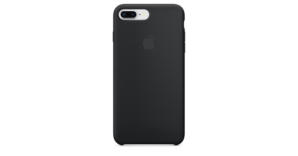 Étui en silicone pour iPhone 8 Plus / 7 Plus - Noir