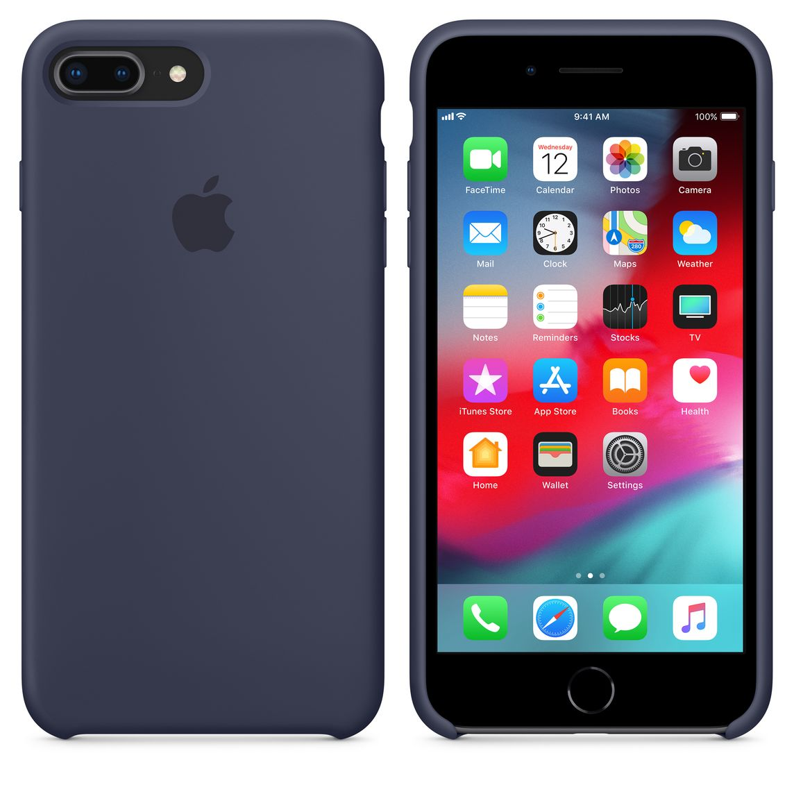 online store 93c05 e67f7 iPhone 8 Plus / 7 Plus Silicone Case - Midnight Blue