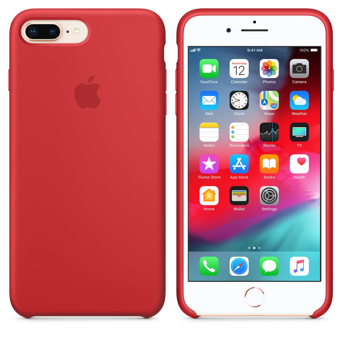 sports shoes d5993 79f83 iPhone 8 Plus / 7 Plus Silicone Case - (PRODUCT)RED