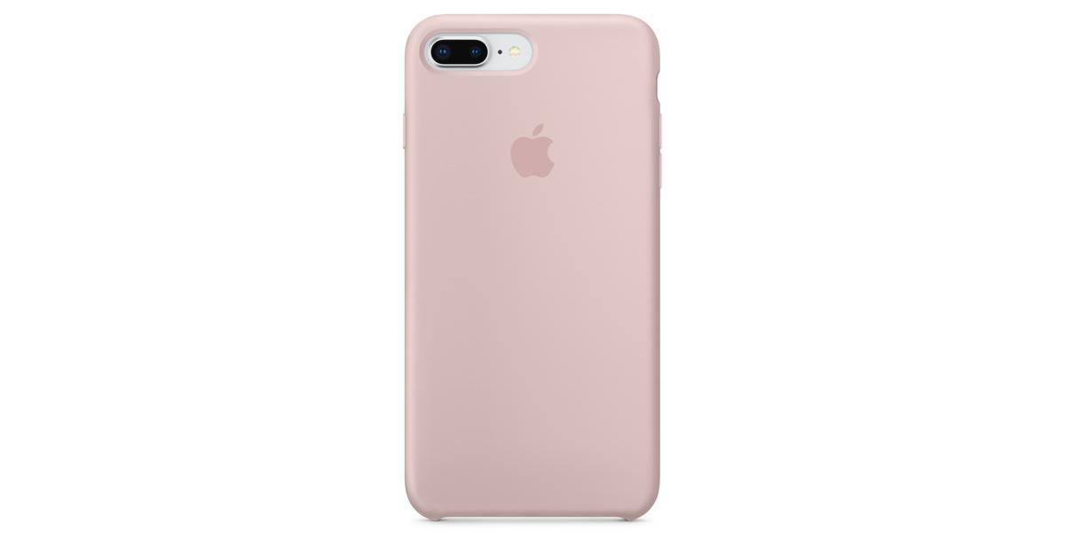 Étui en silicone pour iPhone 8 Plus / 7 Plus - Sable rose