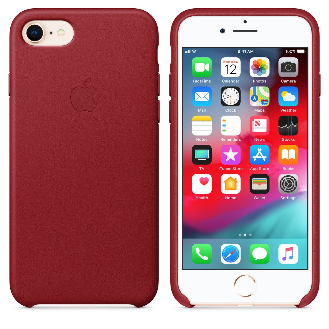competitive price b08ae 3255b iPhone 8 / 7 Leather Case - (PRODUCT)RED