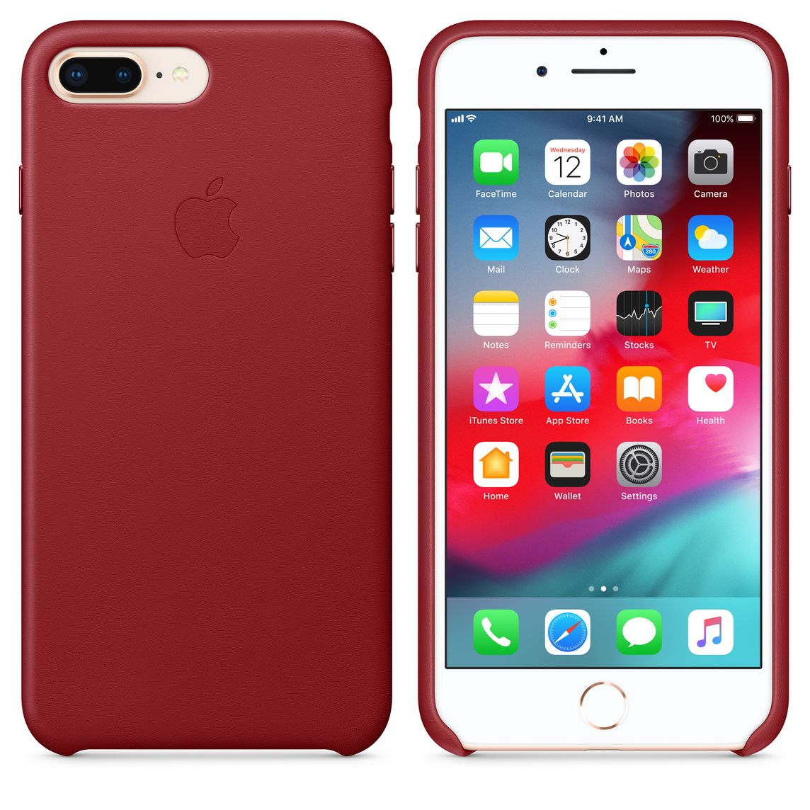 designer fashion 68081 69a19 iPhone 8 Plus / 7 Plus Leather Case - (PRODUCT)RED