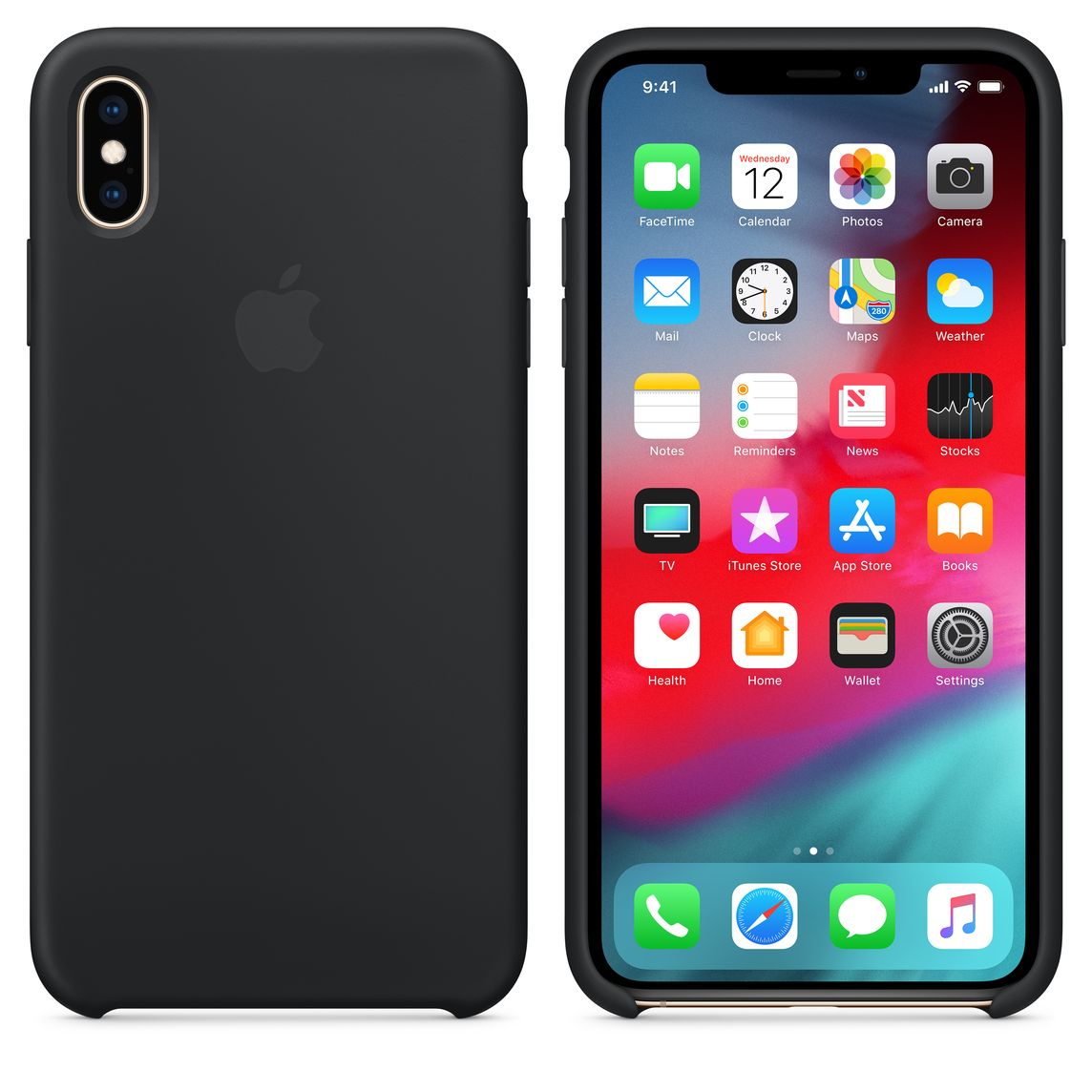 meet 7f34d 82076 iPhone XS Max Silicone Case - Black