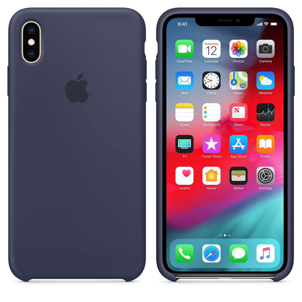 detailed pictures 81869 1337b iPhone XS Max Silicone Case - Midnight Blue
