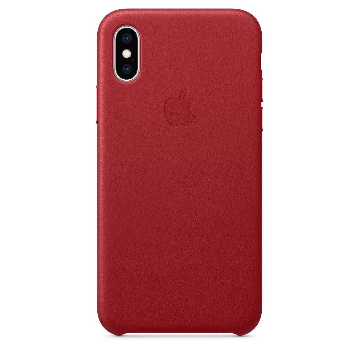 Étui en cuir pour iPhone XS - (PRODUCT)RED