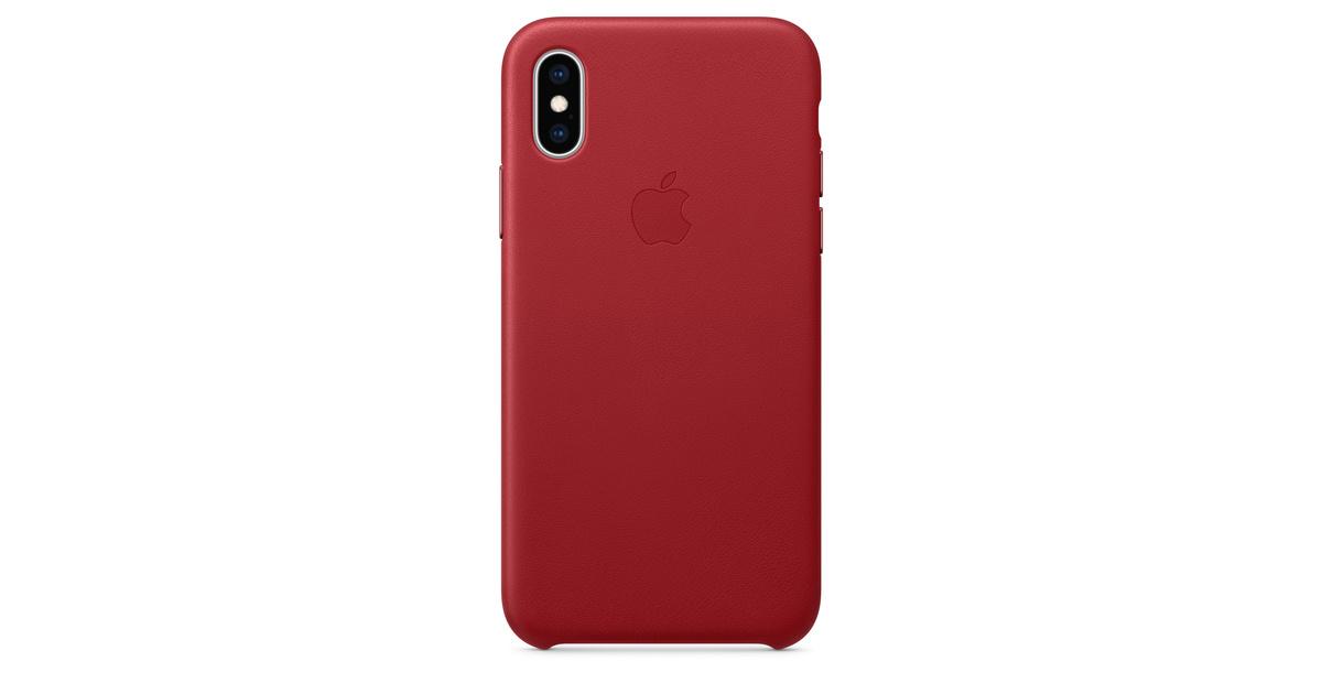Étui en cuir pour iPhone XS - PRODUCT(RED)