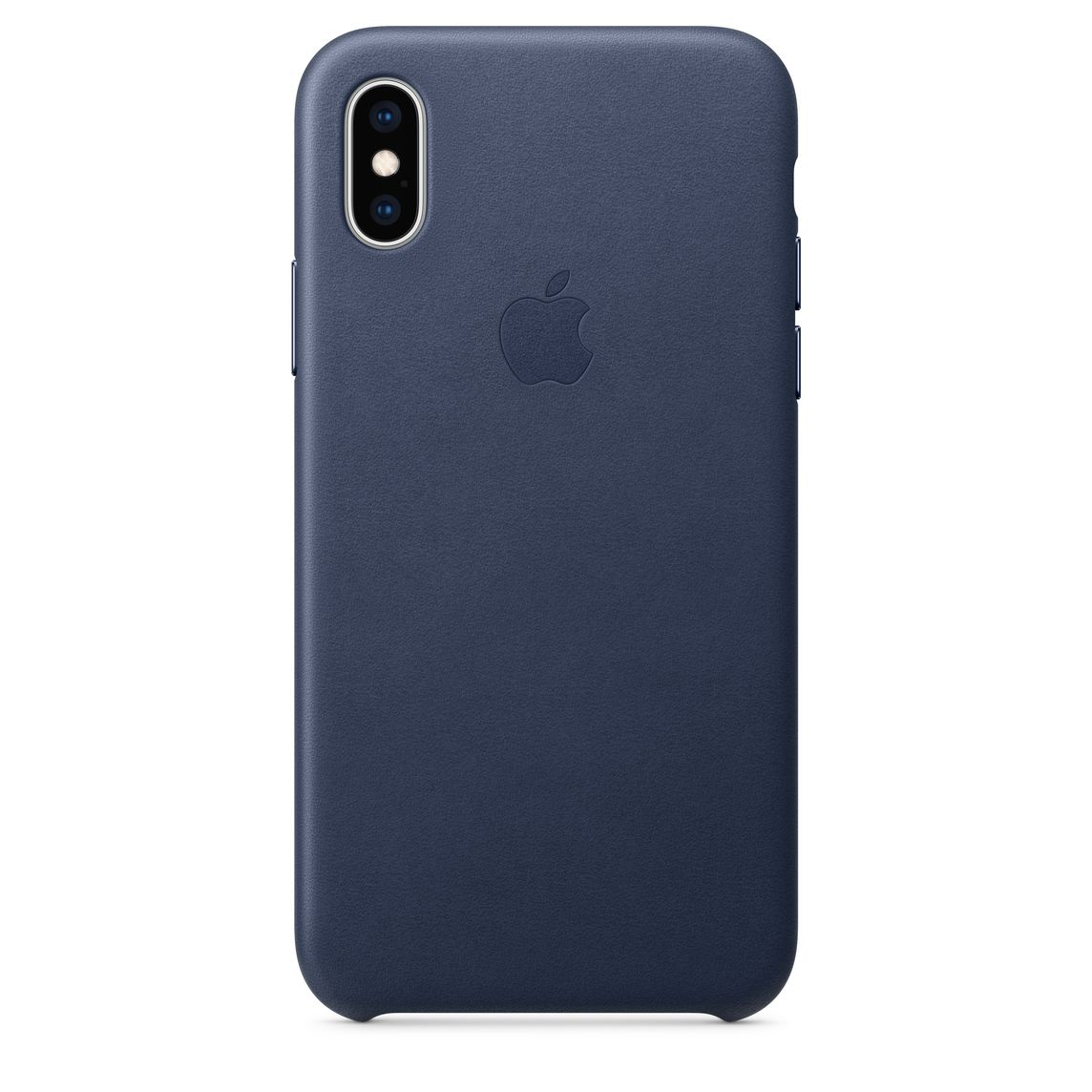 huge discount 49295 1f307 iPhone XS Leather Case - Midnight Blue