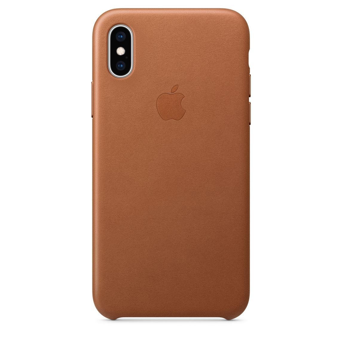 Leather Phone Case >> Iphone Xs Leather Case Saddle Brown Apple