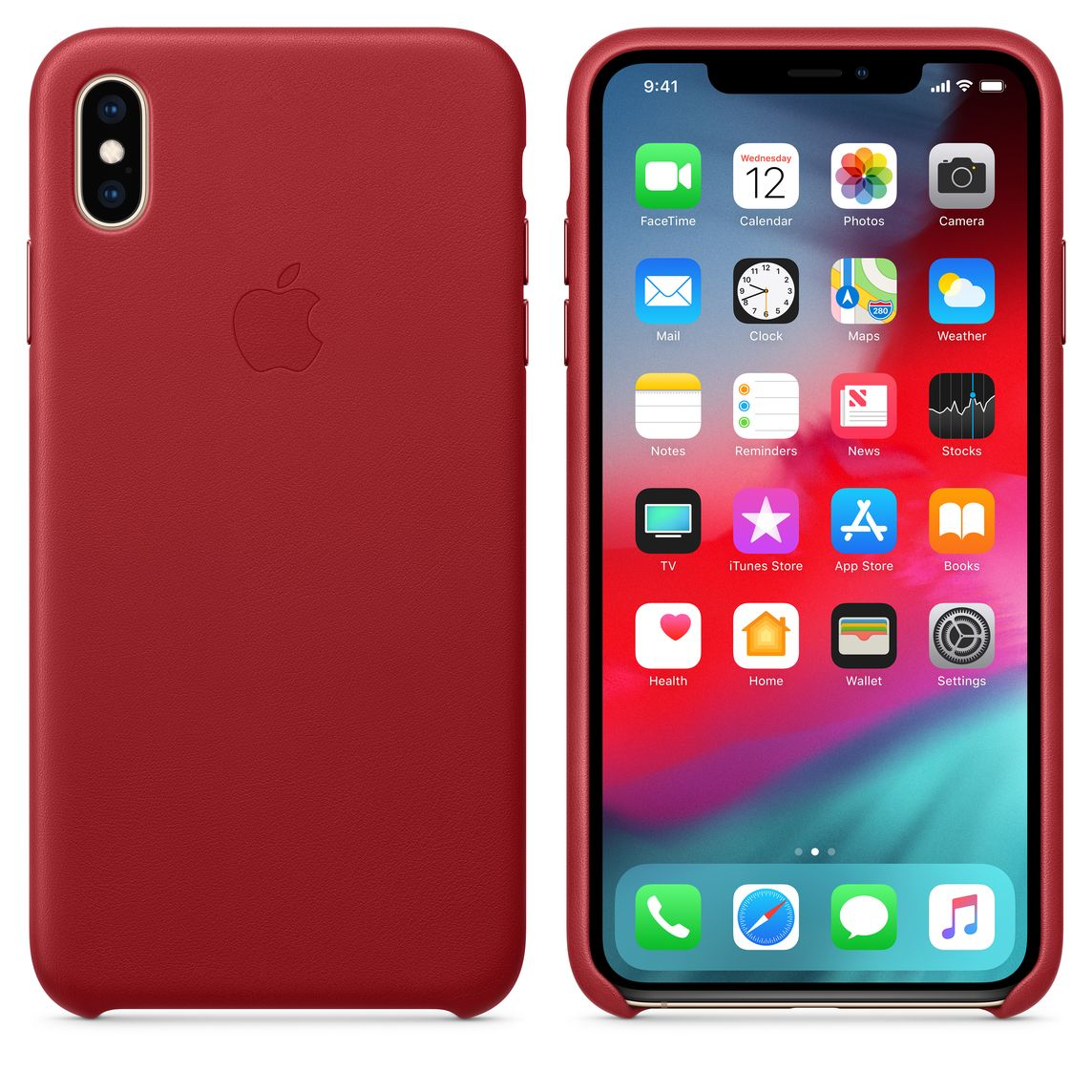 huge discount f7325 2507d iPhone XS Max Leather Case - (PRODUCT)RED