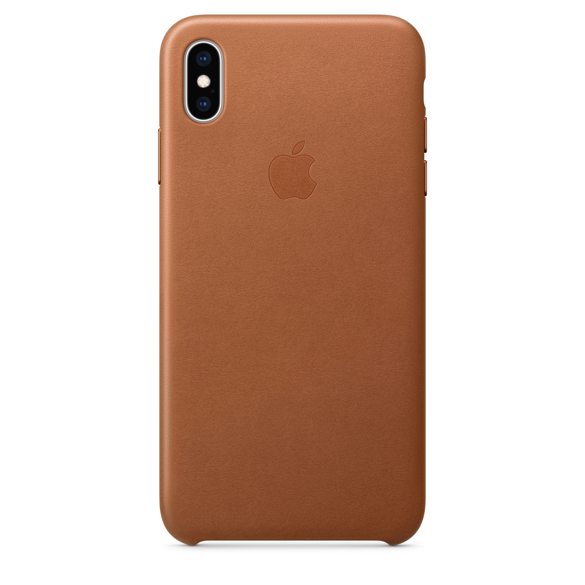 cheap for discount 16eba fe0f6 iPhone XS Max Leather Case - Saddle Brown