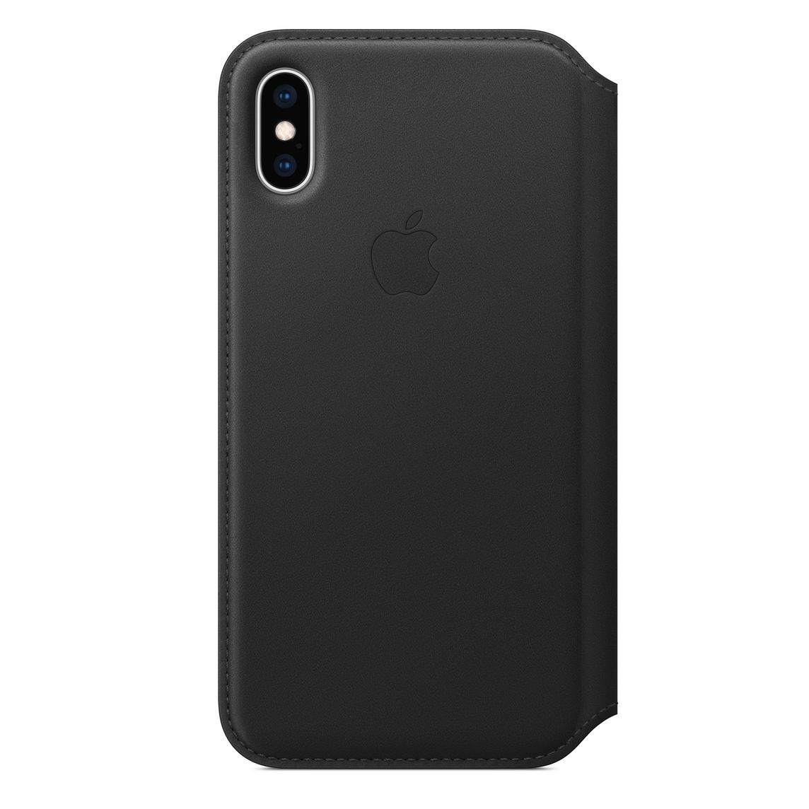 new product 680b6 09116 iPhone XS Leather Folio - Black