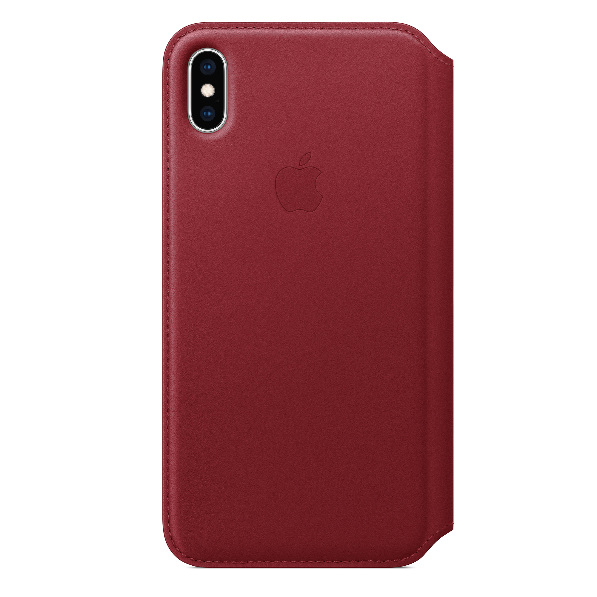 brand new a4bec 34741 iPhone XS Max Leather Folio - (PRODUCT)RED
