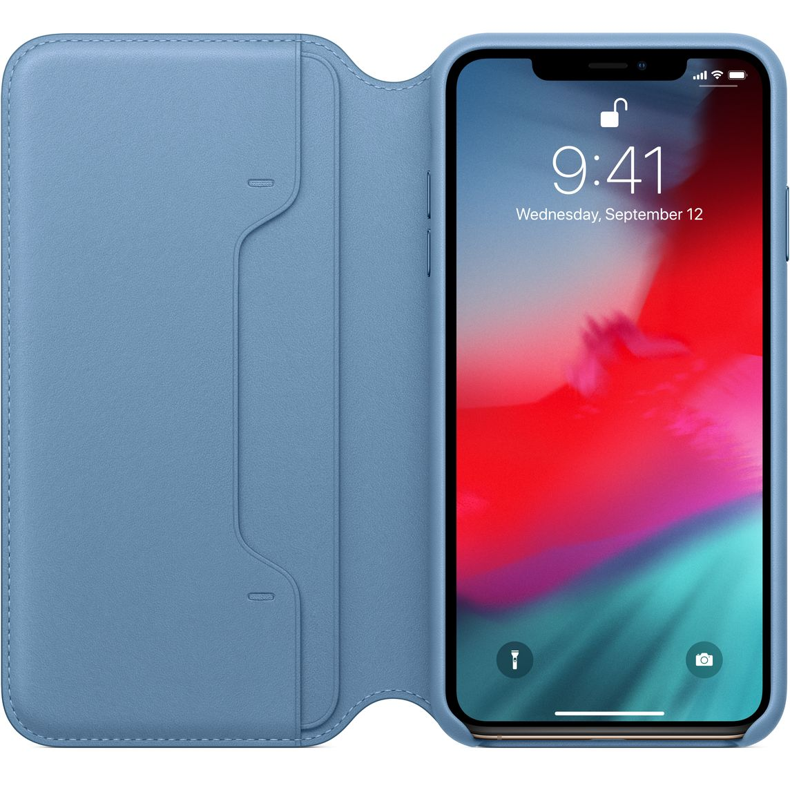 outlet store 47b8f afbbf iPhone XS Max Leather Folio - Cape Cod Blue
