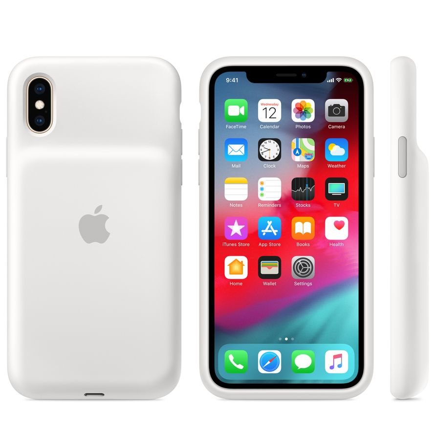 iphone xs smart battery case - white