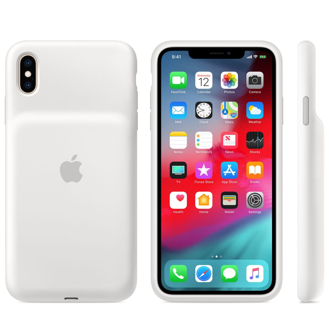 new concept b521b 86f4c iPhone XS Max Smart Battery Case - White