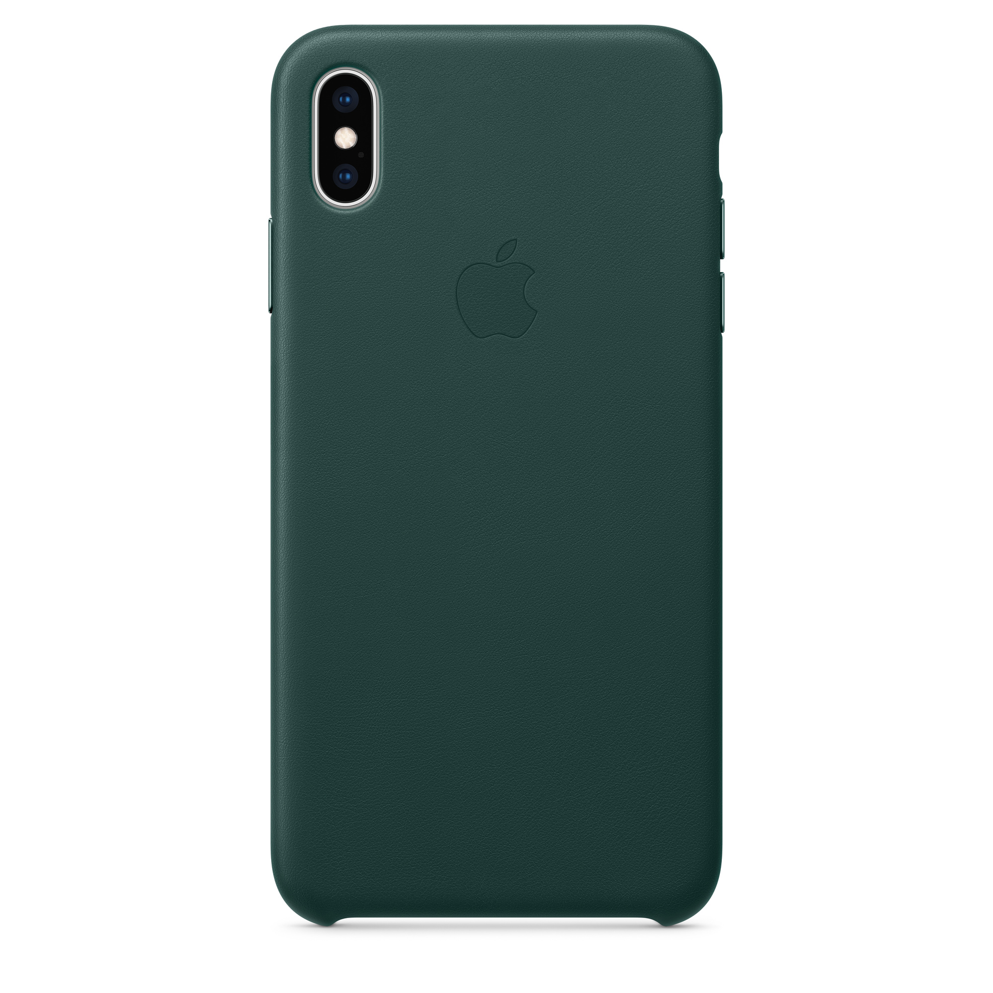 Leather Phone Case >> Iphone Xs Max Leather Case Forest Green Apple