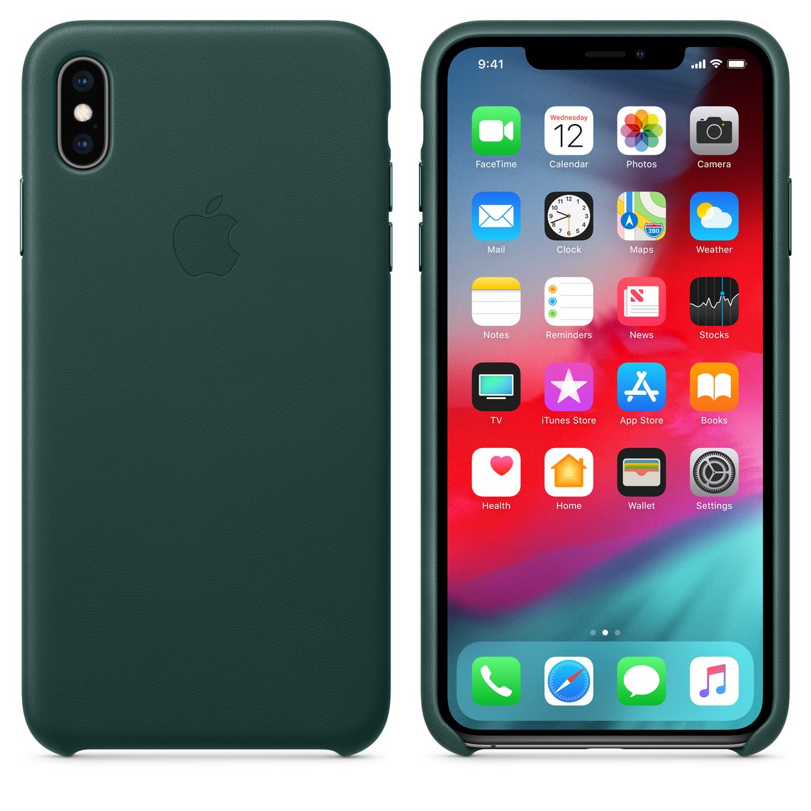 sports shoes 528bb 91177 iPhone XS Max Leather Case - Forest Green