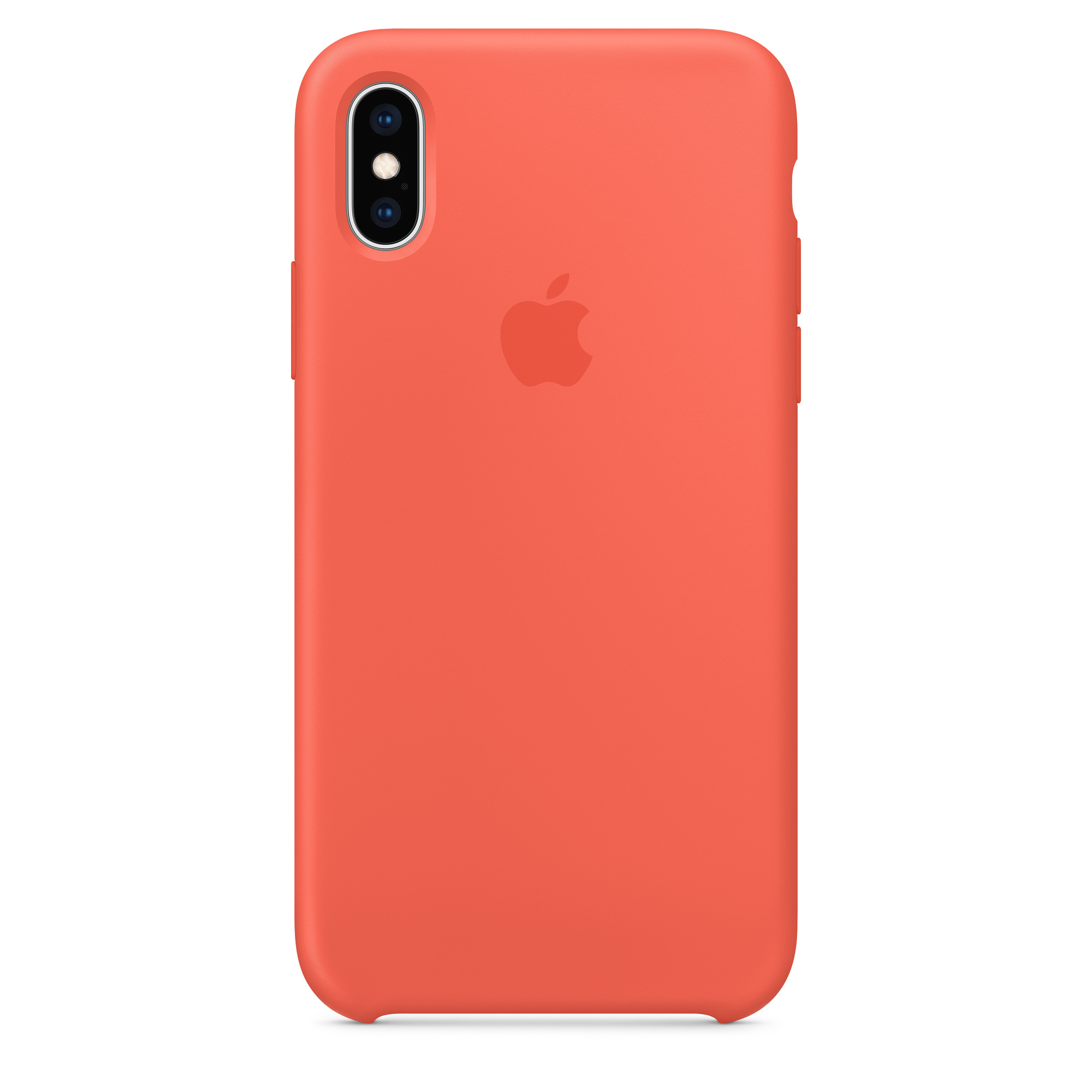 info for ec546 0f905 iPhone XS Silicone Case - Nectarine