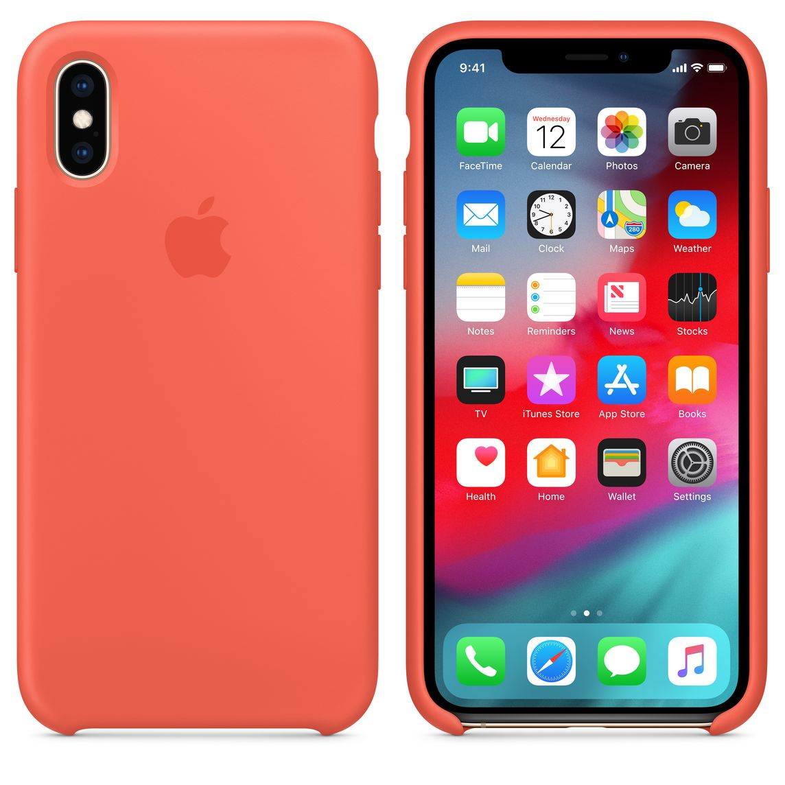 info for b337d 5a1b3 iPhone XS Silicone Case - Nectarine