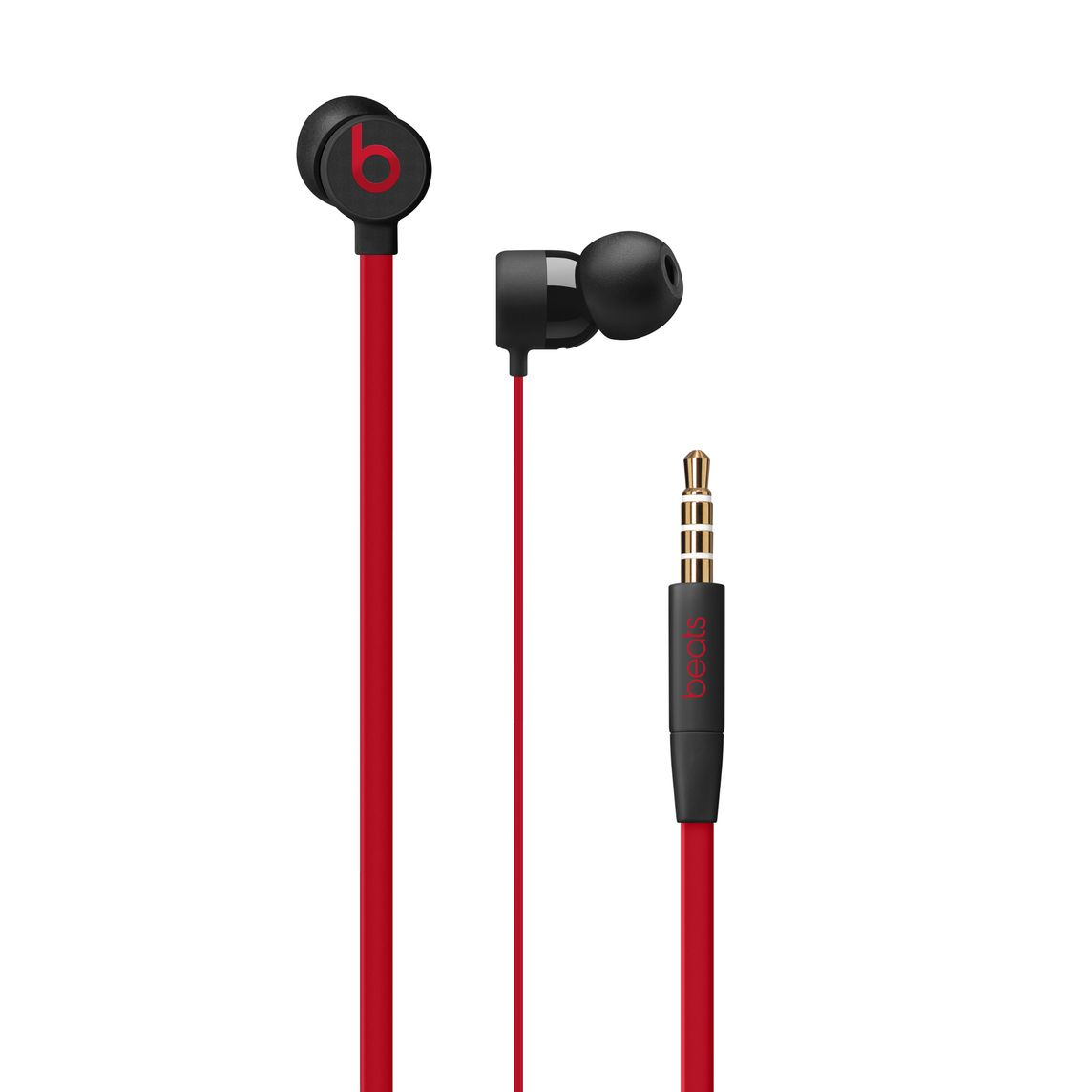 Urbeats3 Earphones With 3 5 Mm Plug The Beats Decade Collection Defiant Black Red Apple