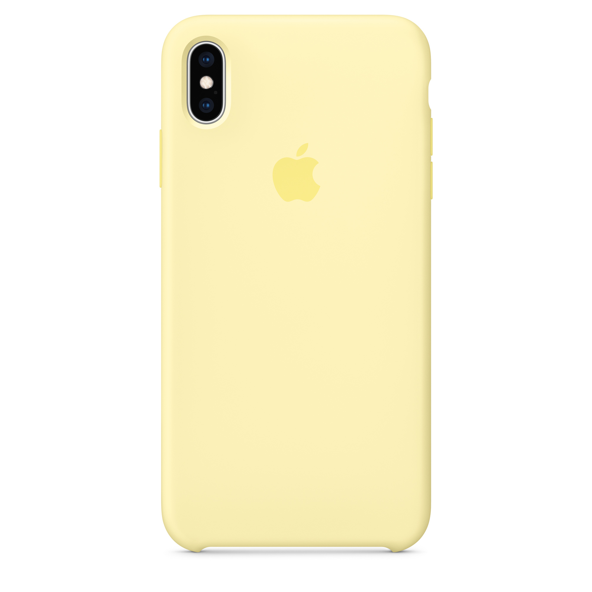 Étui en silicone pour iPhone XS Max - Jaune velouté
