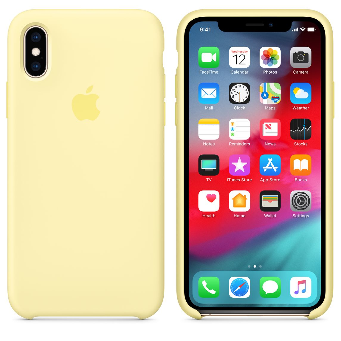 reputable site e7c35 e8058 iPhone XS Silicone Case - Mellow Yellow