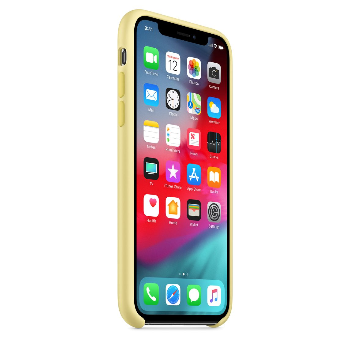 iPhone XS Silicone Case - Mellow Yellow