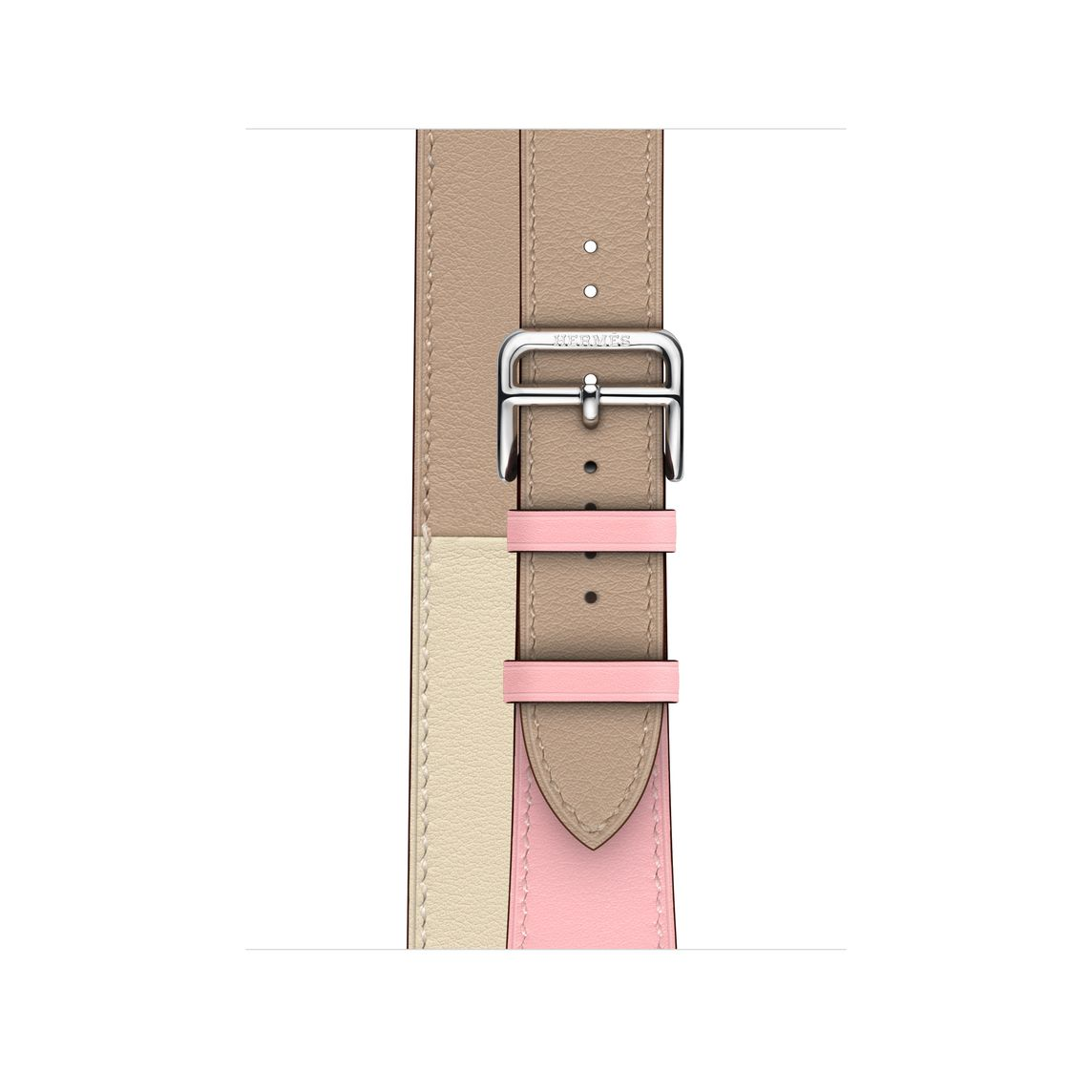 Apple Watch Hermès - 40mm Rose Sakura/Craie/Argile Swift Leather Double Tour