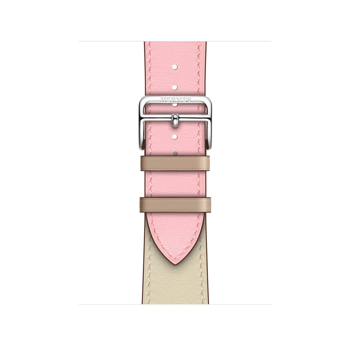 Apple Watch Hermès - 40mm Rose Sakura/Craie/Argile Swift Leather Single Tour
