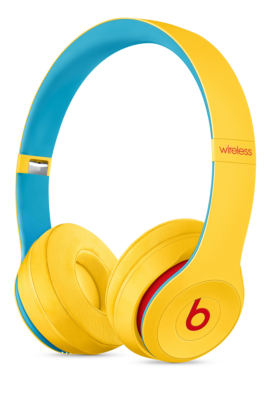 Beats Solo3 Wireless Headphones Beats Club Collection Club Yellow Apple
