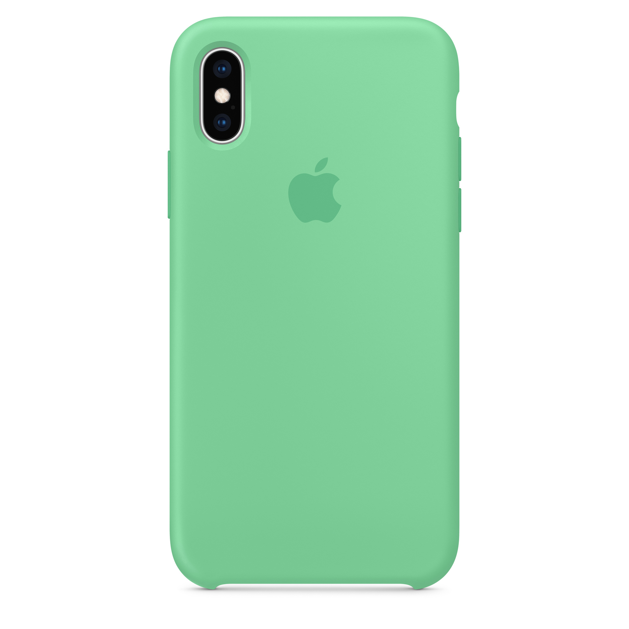 best authentic e0e49 980f9 iPhone XS Silicone Case - Spearmint