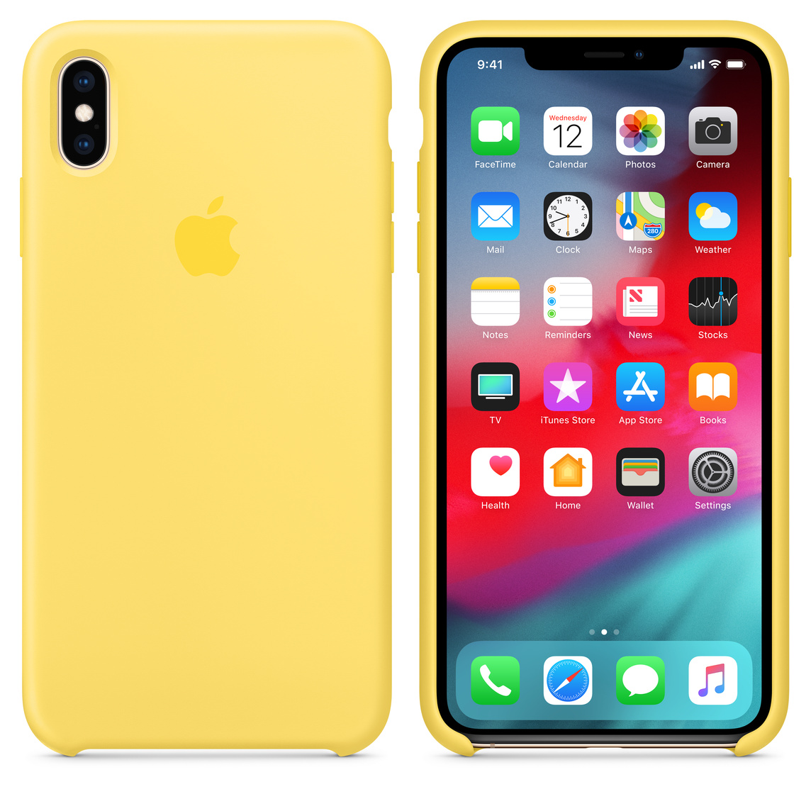 yellow iphone xs max case