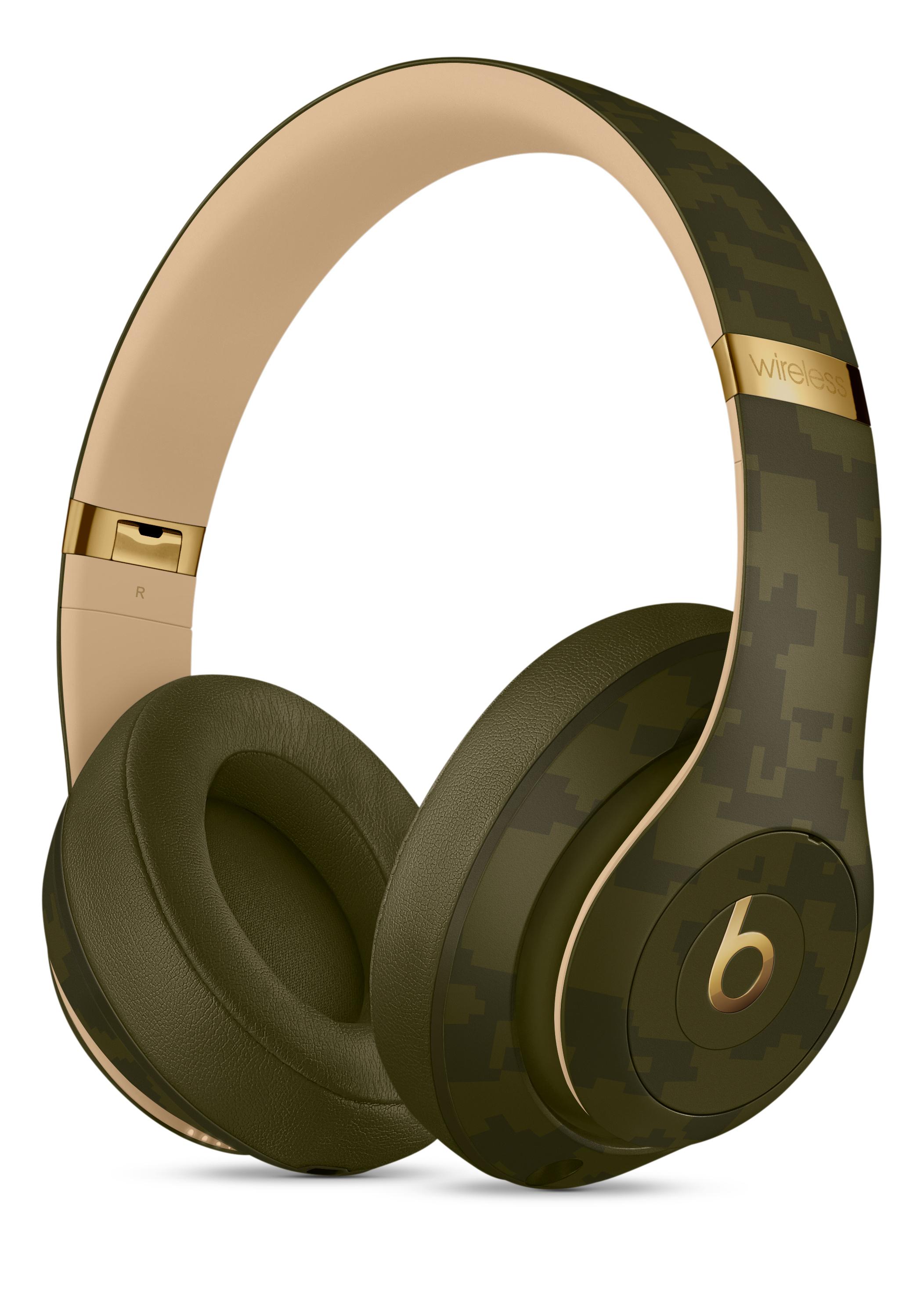 Beats Studio3 Wireless Headphones Beats Camo Collection Forest Green Apple