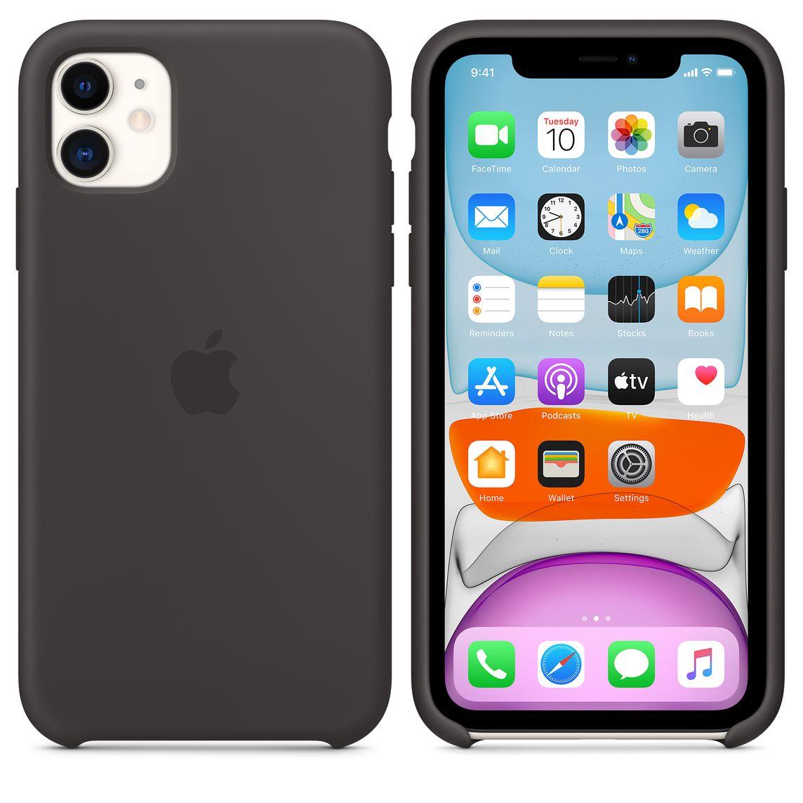 Funda transparente 2 en 1 para iPhone 11 funda trasera de silicona