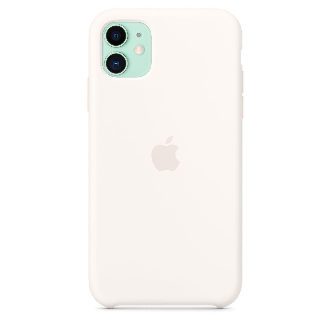 Étui en silicone pour iPhone 11 - Blanc crème