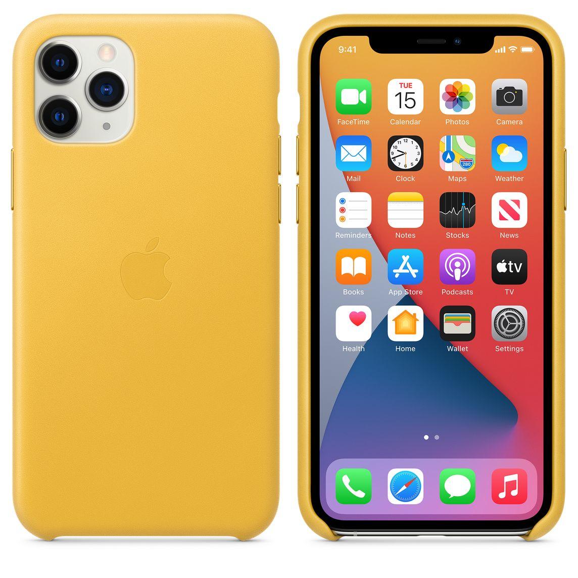 iPhone 11 Pro Leather Case - Meyer Lemon