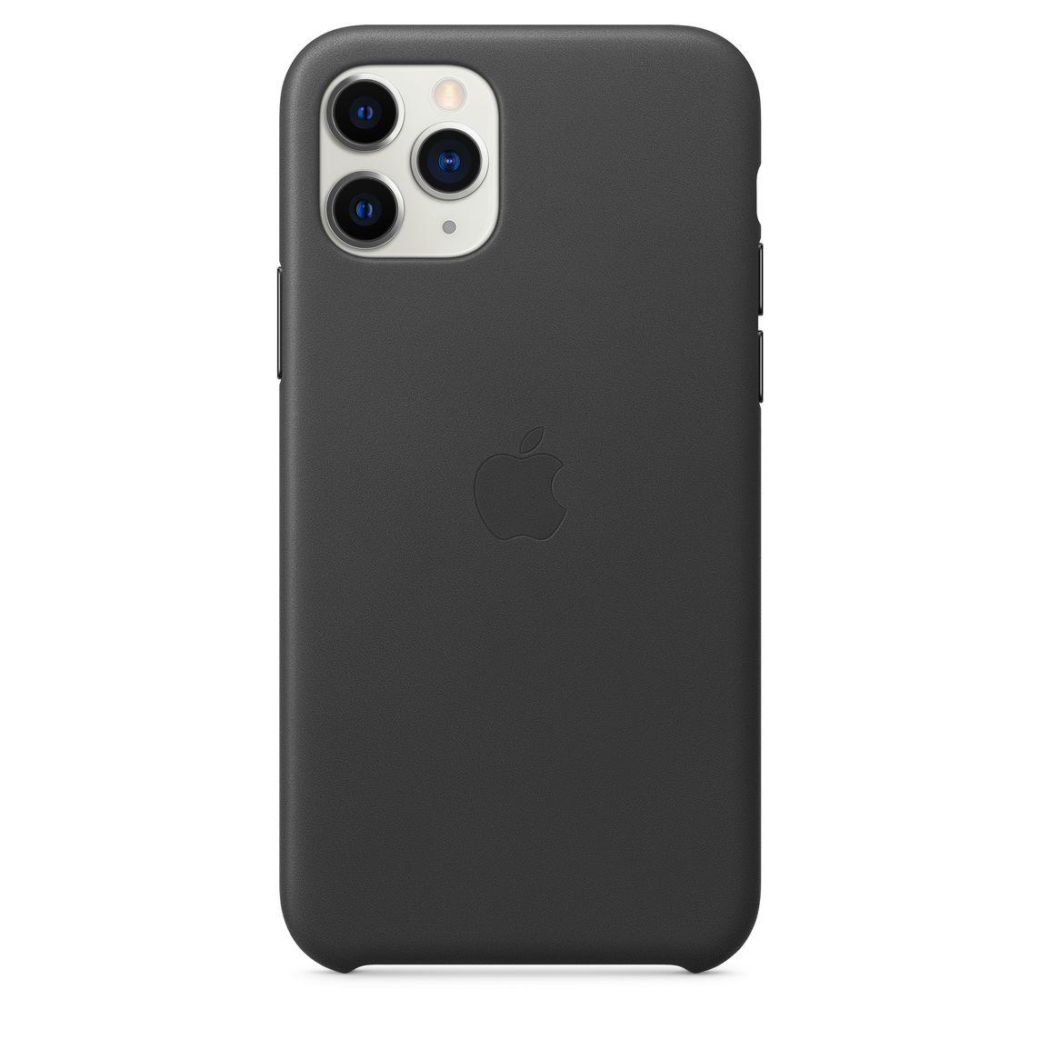Étui en cuir pour iPhone 11 Pro - Noir