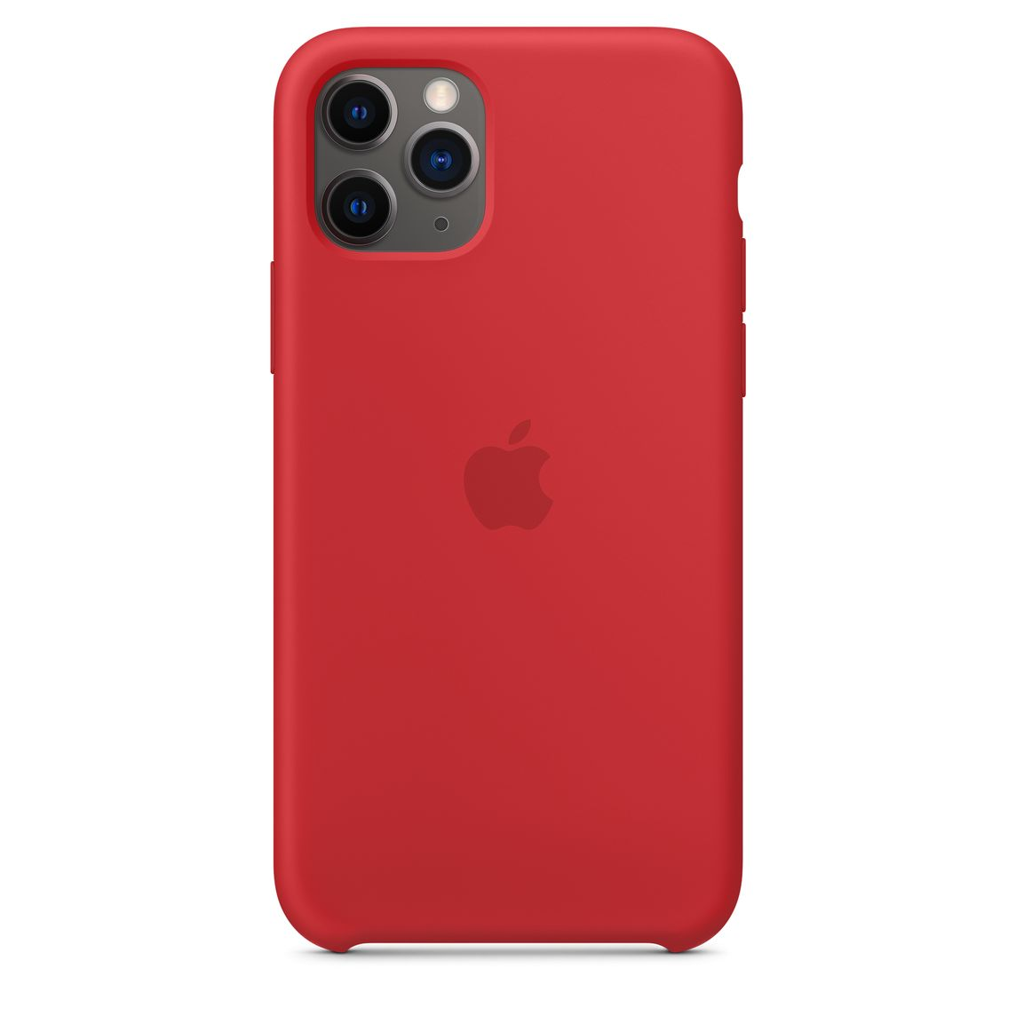 Iphone 11 Pro Silicone Case Product Red Apple Ca