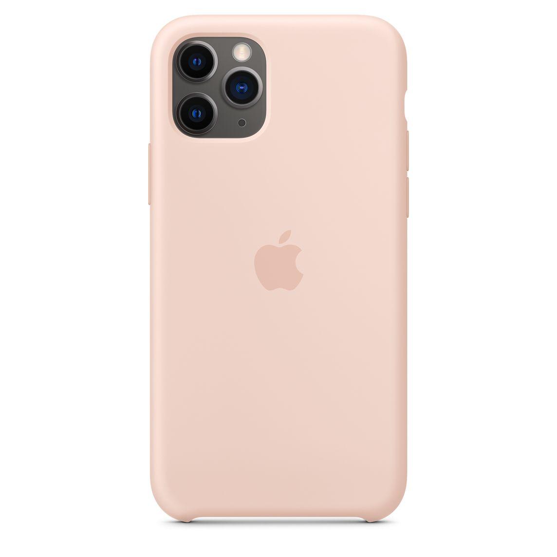 Étui en silicone pour iPhone 11 Pro - Sable rose
