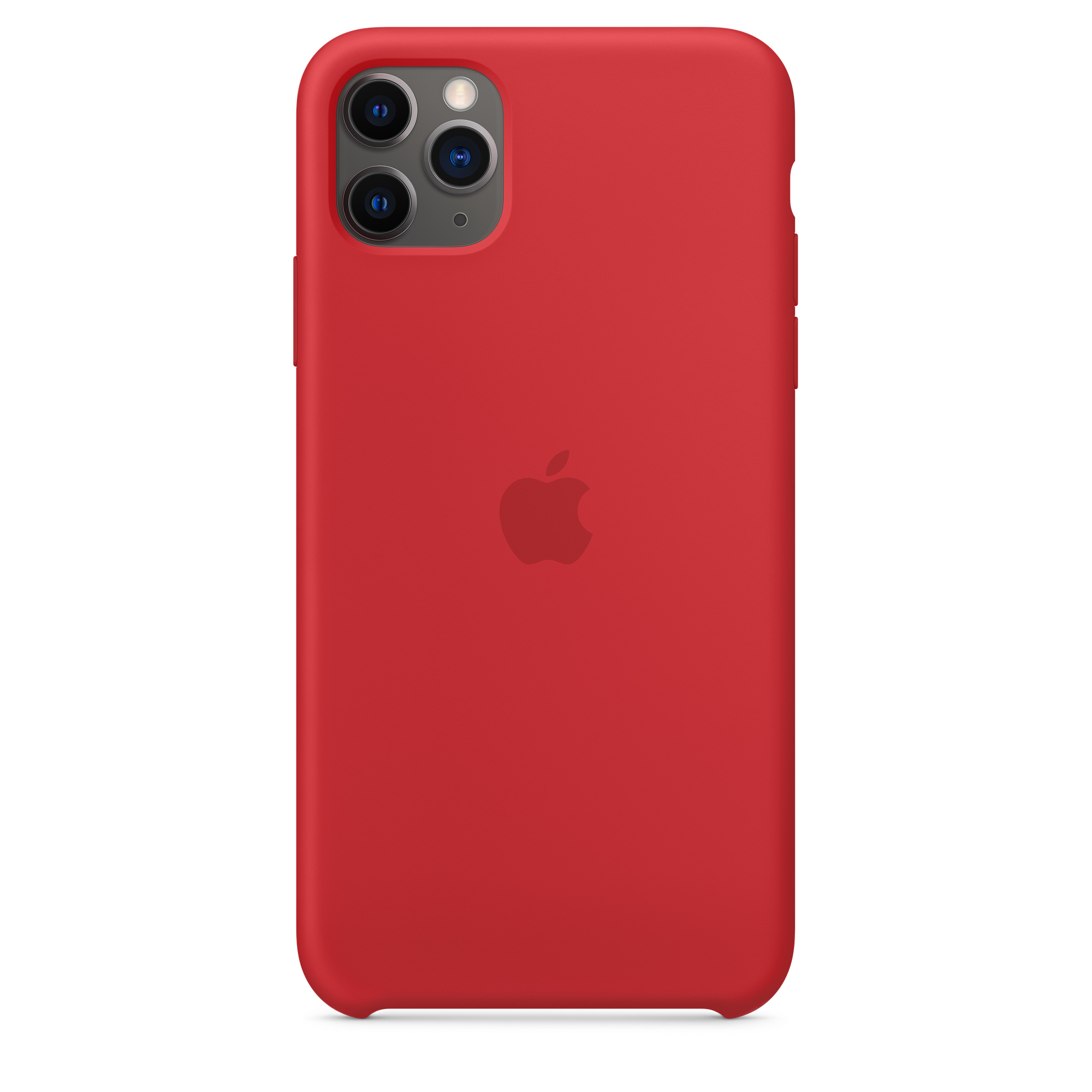 Iphone 11 Pro Max Silicone Case Product Red Apple