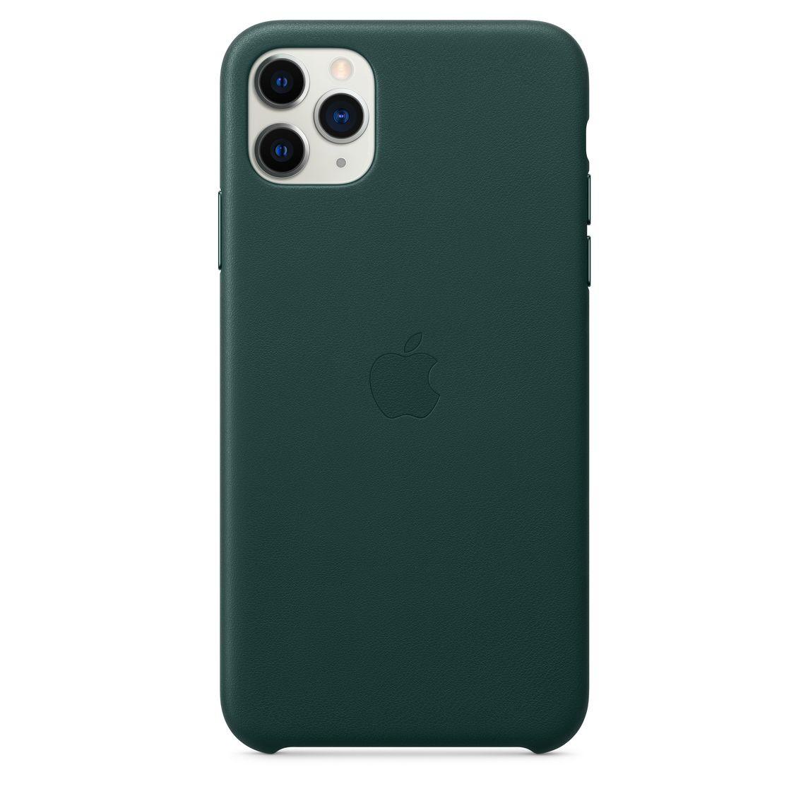 Étui en cuir pour iPhone 11 Pro Max - Vert forêt
