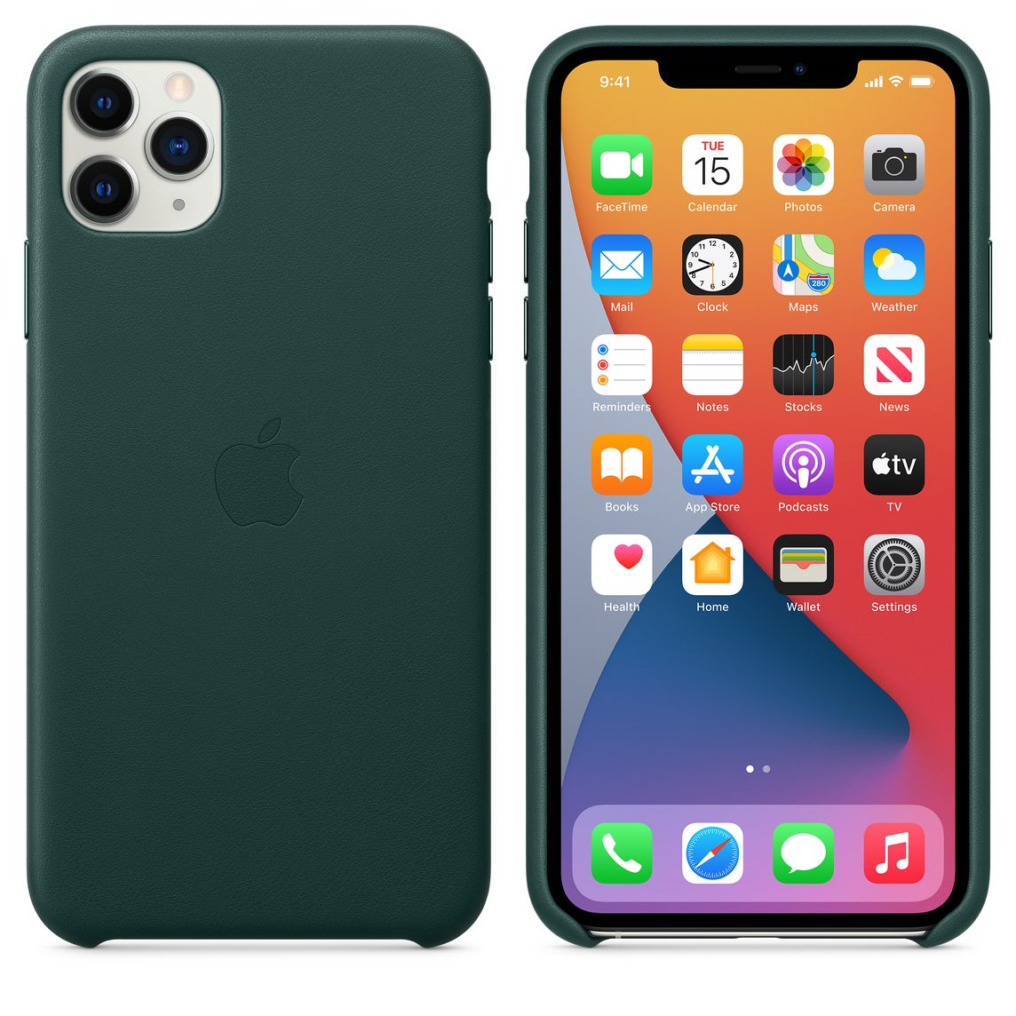 Iphone 11 Pro Max Leather Case Forest Green Apple